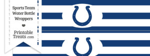 Indianapolis Colts Water Bottle Wrappers