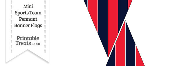 Indians Colors Mini Pennant Banner Flags