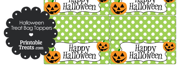 Jack o Lantern Treat Bag Toppers