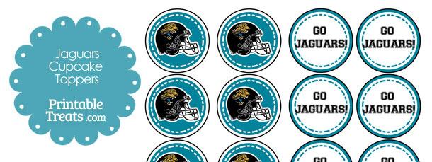 Jacksonville Jaguars Cupcake Toppers