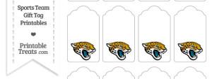 Jacksonville Jaguars Gift Tags