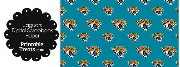 Jacksonville Jaguars Logo Digital Paper