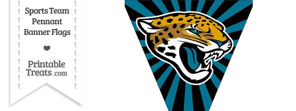 Jacksonville Jaguars Pennant Banner Flag