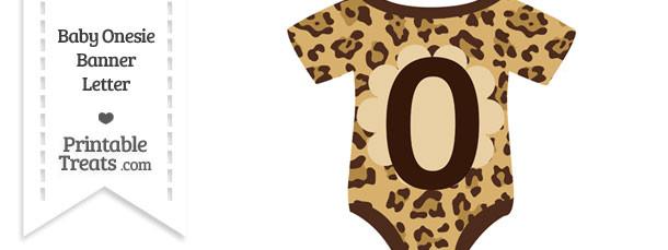 Jaguar Print Baby Onesie Shaped Banner Number 0
