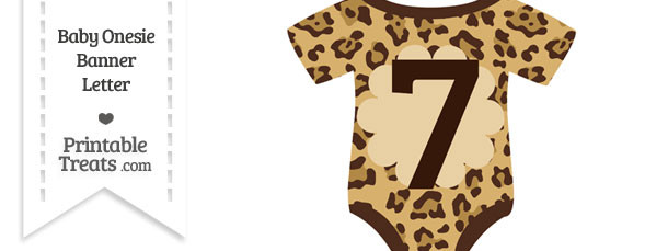 Jaguar Print Baby Onesie Shaped Banner Number 7