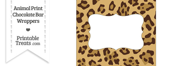 Jaguar Print Chocolate Bar Wrappers