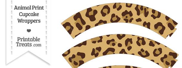 Jaguar Print Cupcake Wrappers