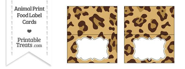 Jaguar Print Food Labels