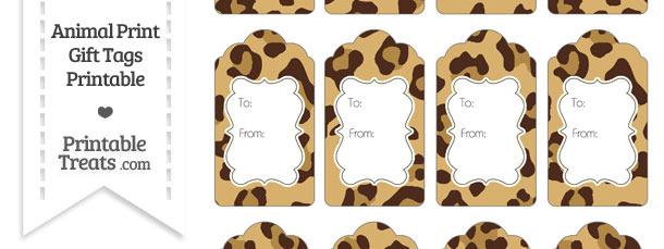 Jaguar Print Gift Tags