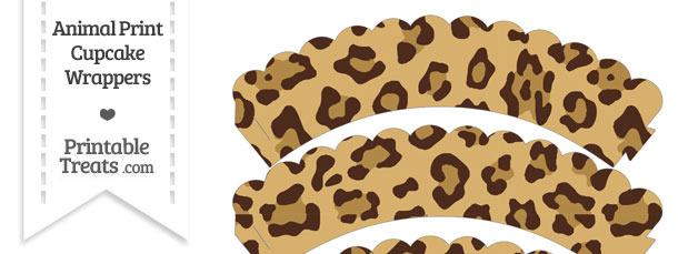 Jaguar Print Scalloped Cupcake Wrappers