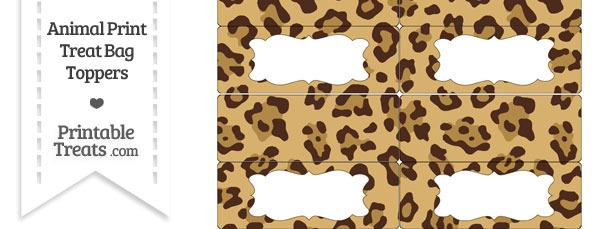 Jaguar Print Treat Bag Toppers