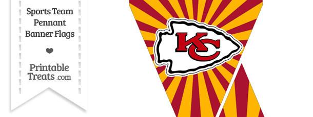Kansas City Chiefs Mini Pennant Banner Flags