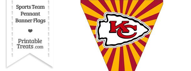 Kansas City Chiefs Pennant Banner Flag
