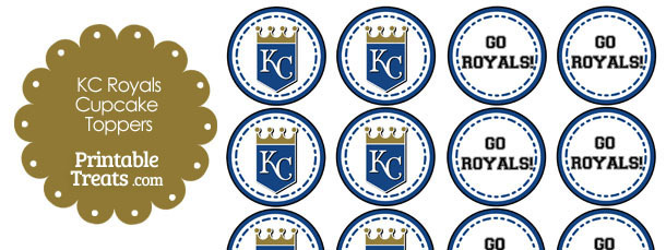 Kansas City Royals Cupcake Toppers