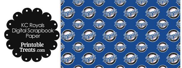Kansas City Royals Logo Digital Paper