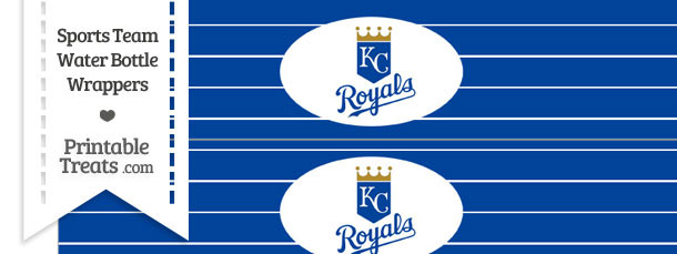 Kansas City Royals Water Bottle Wrappers