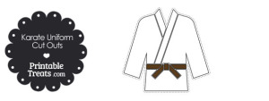 Karate Uniform with Brown Belt Cut Outs