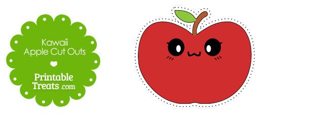 Kawaii Apple Cut Outs