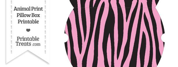 Large Baby Pink Zebra Print Pillow Box