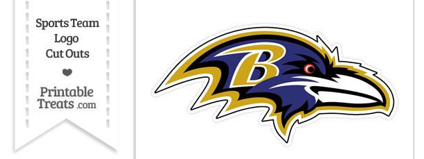 Large Baltimore Ravens Logo Cut Out
