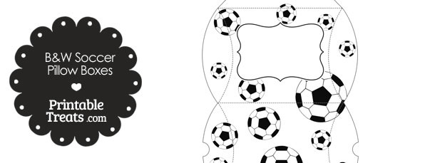 Large Black and White Soccer Pillow Boxes