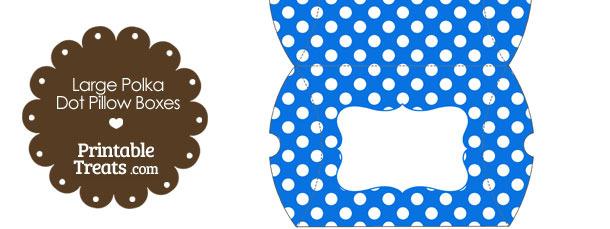 Large Blue and White Polka Dot Pillow Box