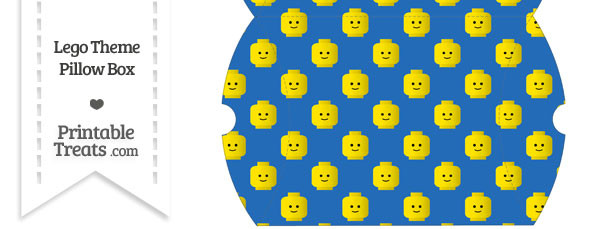 Large Blue Lego Theme Pillow Box