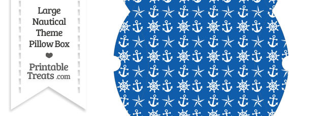 Large Blue Nautical Pillow Box