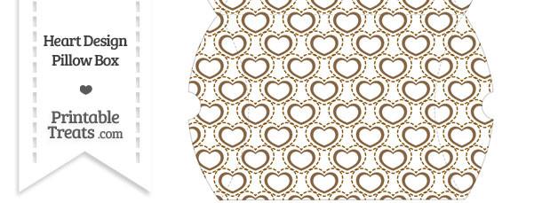 Large Brown Heart Design Pillow Box