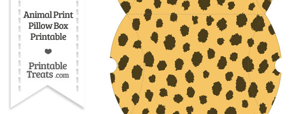 Large Cheetah Print Pillow Box
