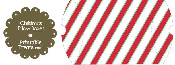 Large Christmas Stripes Pillow Box
