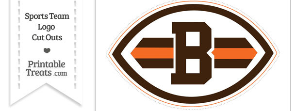 Large Cleveland Browns Logo Cut Out