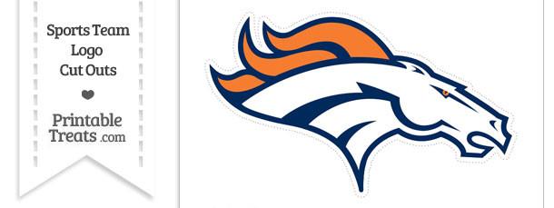 Large Denver Broncos Logo Cut Out