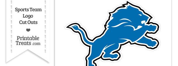 Large Detroit Lions Logo Cut Out
