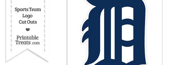 Large Detroit Tigers Logo Cut Out