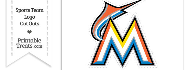 Large Florida Marlins Logo Cut Out