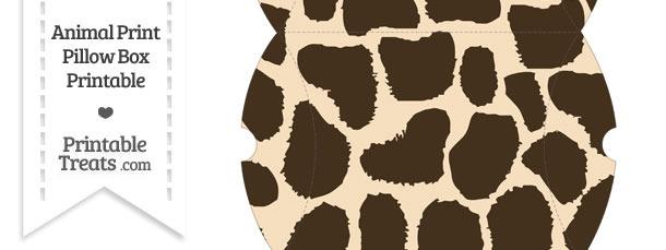 Large Giraffe Print Pillow Box