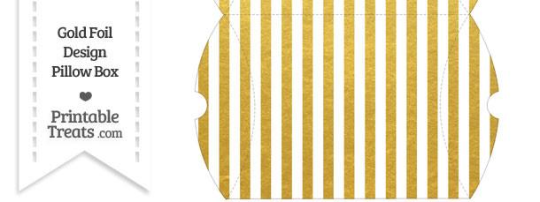 Large Gold Foil Stripes Pillow Box