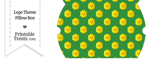 Large Green Lego Theme Pillow Box