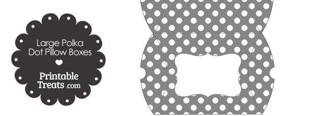 Large Grey and White Polka Dot Pillow Box