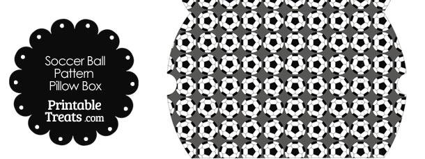 Grey Soccer Ball Pattern Pillow Box