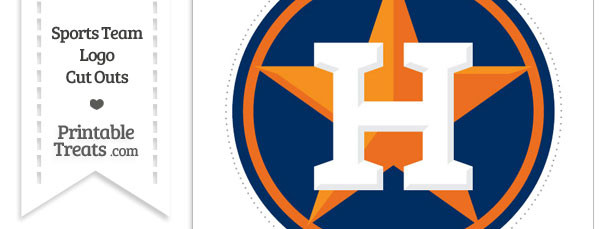 Large Houston Astros Logo Cut Out