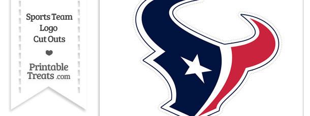 Large Houston Texans Logo Cut Out
