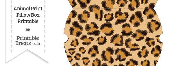 Large Leopard Print Pillow Box