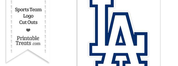 Large Los Angeles Dodgers Logo Cut Out