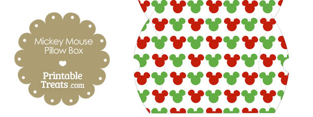 Large Mickey Mouse Christmas Pillow Box