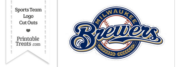 Large Milwaukee Brewers Logo Cut Out