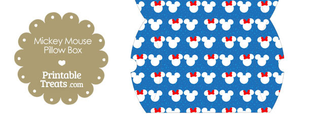 Large Minnie and Mickey Snow Theme Pillow Box