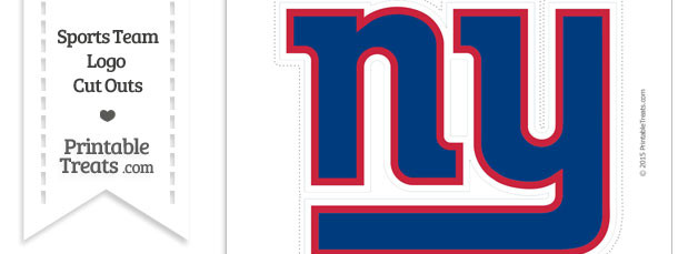 Large New York Giants Logo Cut Out