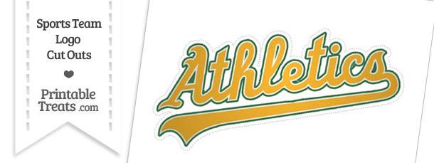 Large Oakland Athletics Logo Cut Out